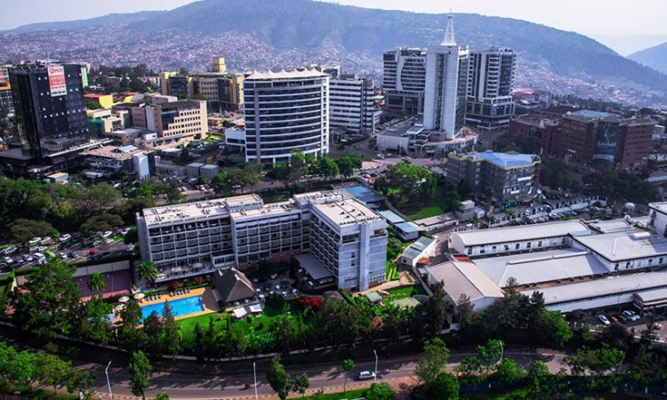 Aerial View Of Kigali City